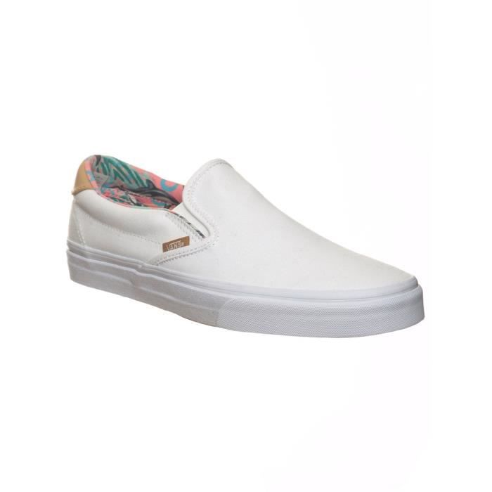 Chaussures Slip-on Vans 59 Canvas-Leather Dolphins-True Blanc