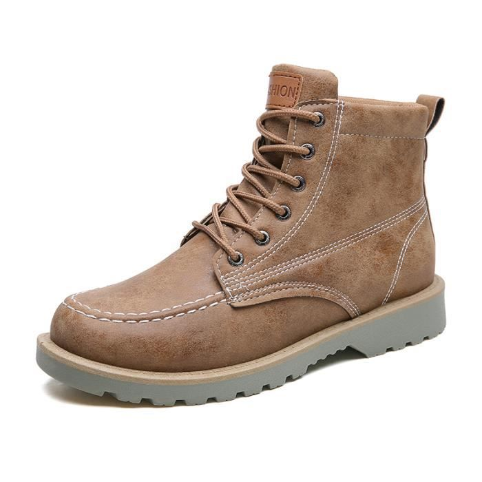 Homme Chaussures Boots Bottine chaussures Cuir dessus Marron Haut 2YID9WEH