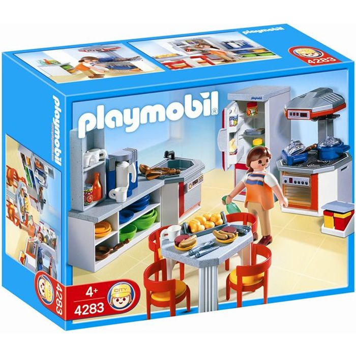 playmobil 4283 cuisine quip e achat vente univers miniature cdiscount. Black Bedroom Furniture Sets. Home Design Ideas
