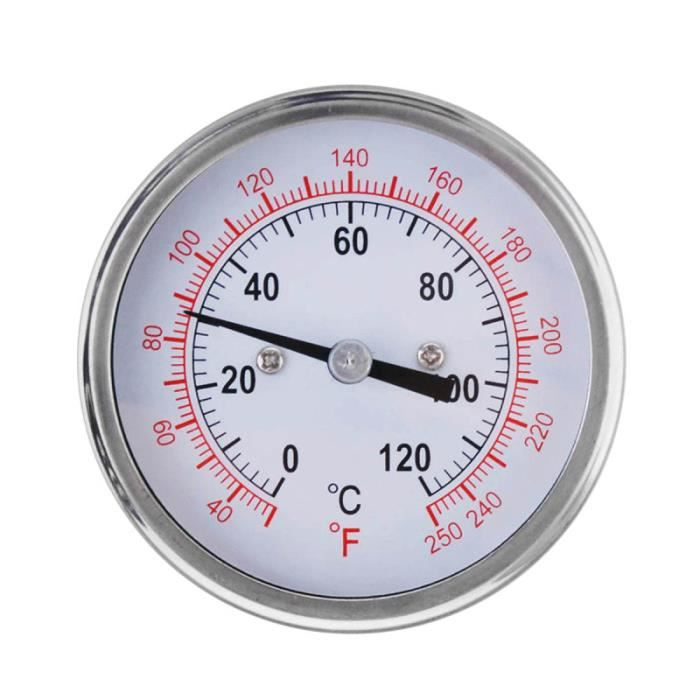 """2/"""" Acier Barbecue Thermomètre Jauge Fumeur Grill Charbon de bois température Barbecue Outils"""