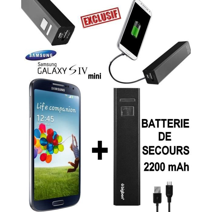 pack power samsung galaxy s4 mini batterie achat smartphone pas cher avis et meilleur. Black Bedroom Furniture Sets. Home Design Ideas