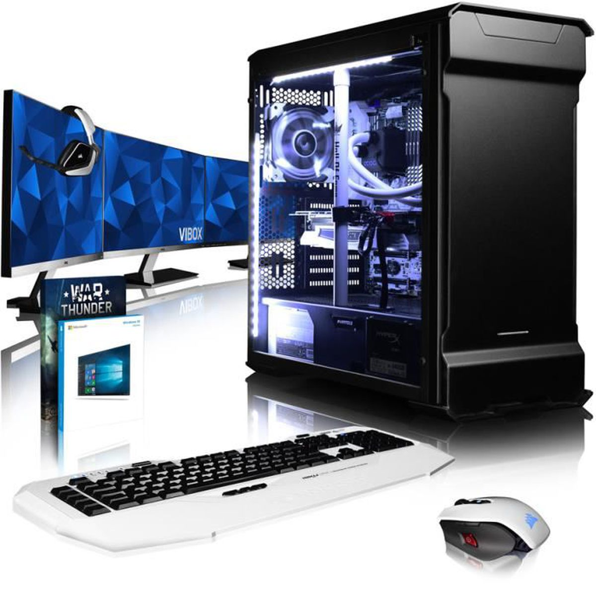 ordinateur de bureau gamer pc gamer hunter intel core i5 vibox zenith 19 pc gamer amd 8 core. Black Bedroom Furniture Sets. Home Design Ideas
