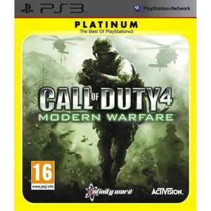 JEU PS3 Call Of Duty 4 Platinum Jeu PS3