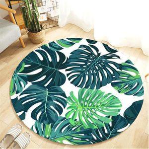 TAPIS Tropical Plant Feuilles Chambre Tapis de 40cm de S