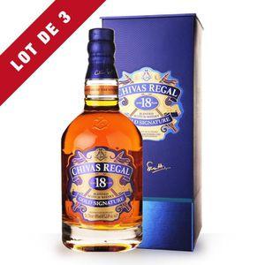WHISKY BOURBON SCOTCH 3X Chivas Regal 18 ans 70cl - Coffret - Whisky Ble