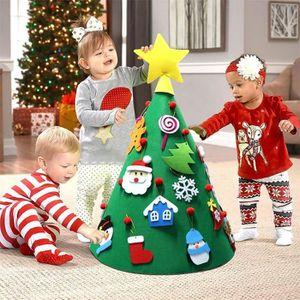 3D DIY Feutré Arbre De Noël Toddler Amical Arbre De Noël Suspendus Ornements Enfants Cadeaux De Noël pour Décorations De Noël