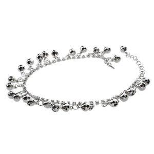 """Argent Sterling 925 9/"""" 11/"""" réglable Rolo Perles Bracelet De Cheville Bracelet"""