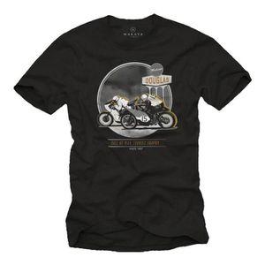 T-SHIRT T-Shirt Moto Homme - Cafe Racer Tee Shirt Biker -