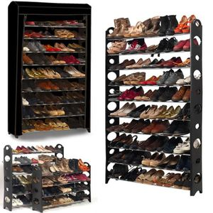 MEUBLE À CHAUSSURES Etagère range chaussures 50 paires modulable+houss