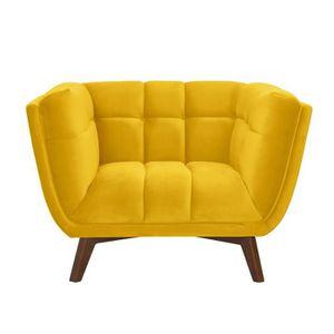 FAUTEUIL Fauteuil Mona en velours jaune