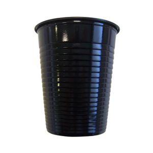 VERRE JETABLE Paquet de 50 gobelets plastique 20cl noir