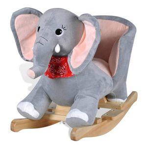 JOUET À BASCULE vidaXL Éléphant à bascule pour bébés