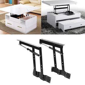 TABLE BASSE 2pcs Lift Up Modern Coffee Convertible Table Espac