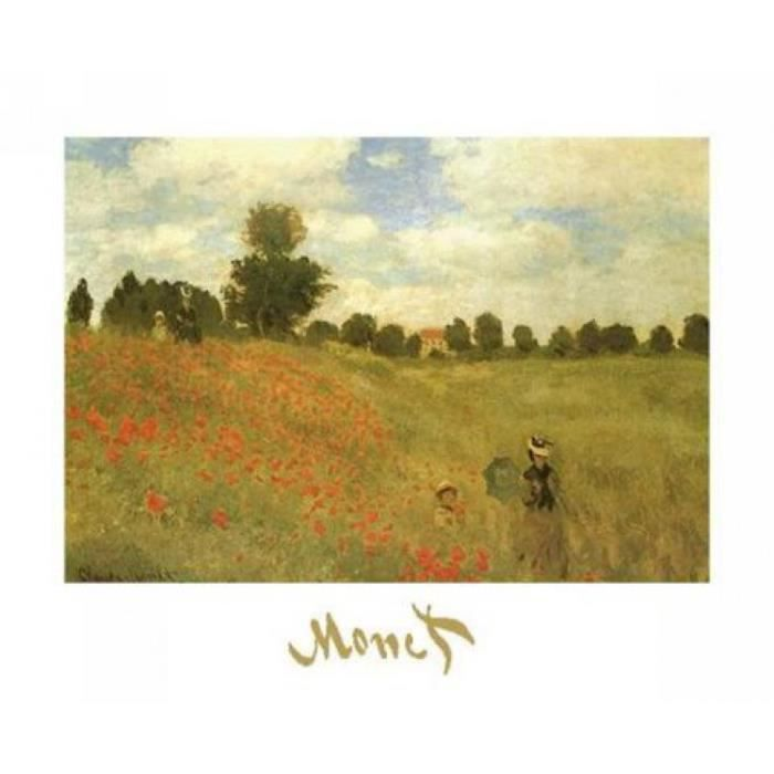 Claude Monet Poster Reproduction - Coquelicots III (30 x 24 cm ...