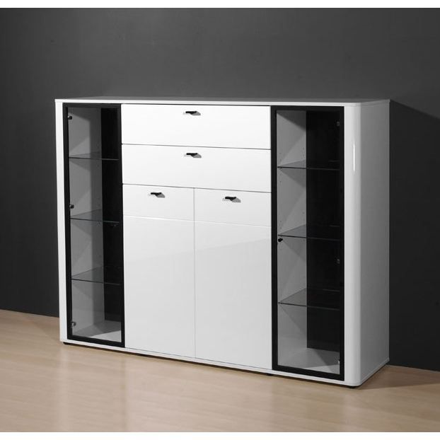 monza buffet blanc 160 cm achat vente buffet bahut monza buffet 160 cm mdf cdiscount. Black Bedroom Furniture Sets. Home Design Ideas