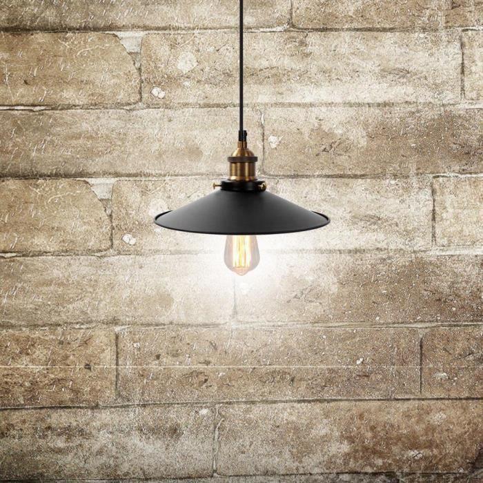 Vintage industriel plafond suspension abat-jour appareils d'éclairage décor en métal