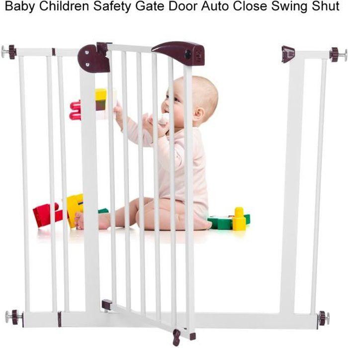Barrière de sécurité enfant Bébé 80 à 91 cm - Barrière de Sécurité pour Escaliers, Portes, Couloir - BOH HB044 -SUR