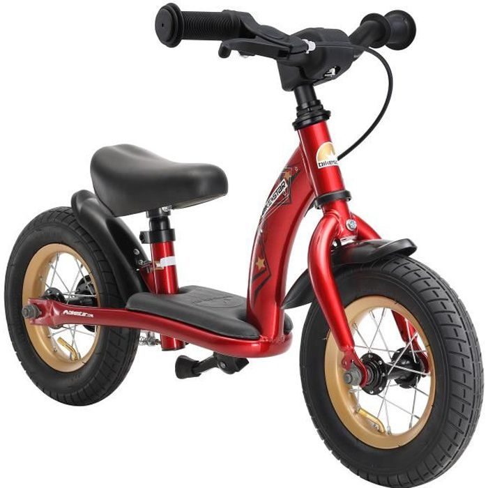 BIKESTAR - Draisienne - 10 pouces - pour enfants de 2-3 ans - Edition Classique - garçons et filles - Rouge