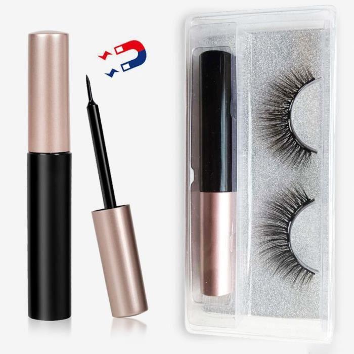 Ensemble de faux cils et Eyeliner magnétiques, avec pince à épiler et Extension liquide, 7 paires faux cils magnétique [E1AE8BA]