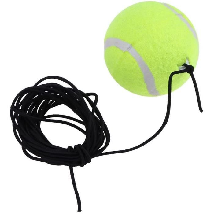 Balle de Rebond Tennis Balle de Tennis avec Fil élastique Auto-Apprentissage à Haute élasticité Balle Tennis Entrainement