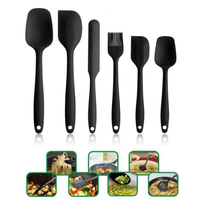 6pcs Ustensiles de cuisine en silicone Cuisson Silicone Ustensiles De Cuisine
