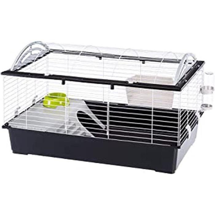 Cage Pour Lapins Casita 100 Cochons D'Inde Petits Animaux, Toit Arrondi Ouvrable, Avec Accessoires