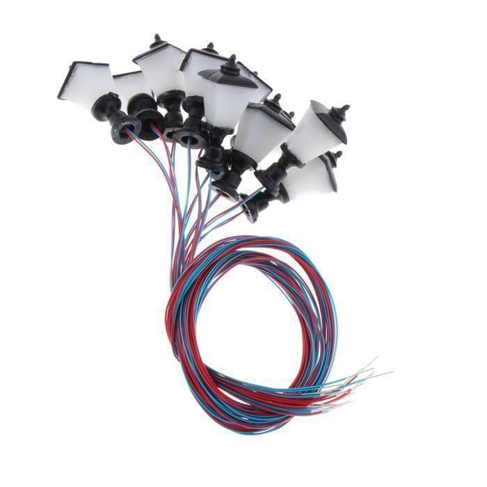 VEHICULE A CONSTRUIRE - ENGIN TERRESTRE A CONSTRUIRE 10 pièces 1: 100 lampadaires miniatures à l'échelle