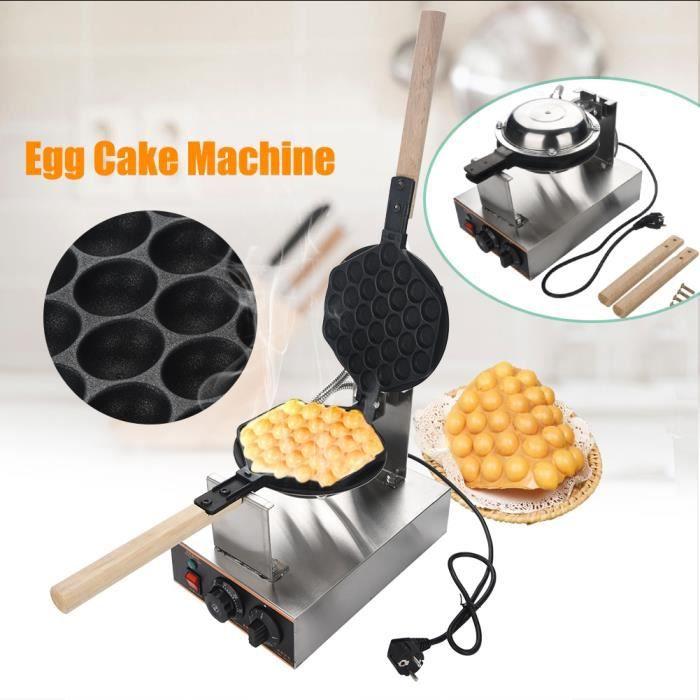 yotanroom® HB001 Gaufrier Oeufs de Hong Kong Appareil pour Gâteaux d'œuf Electrique en Acier Inoxydable Professionnel Antiadhésif