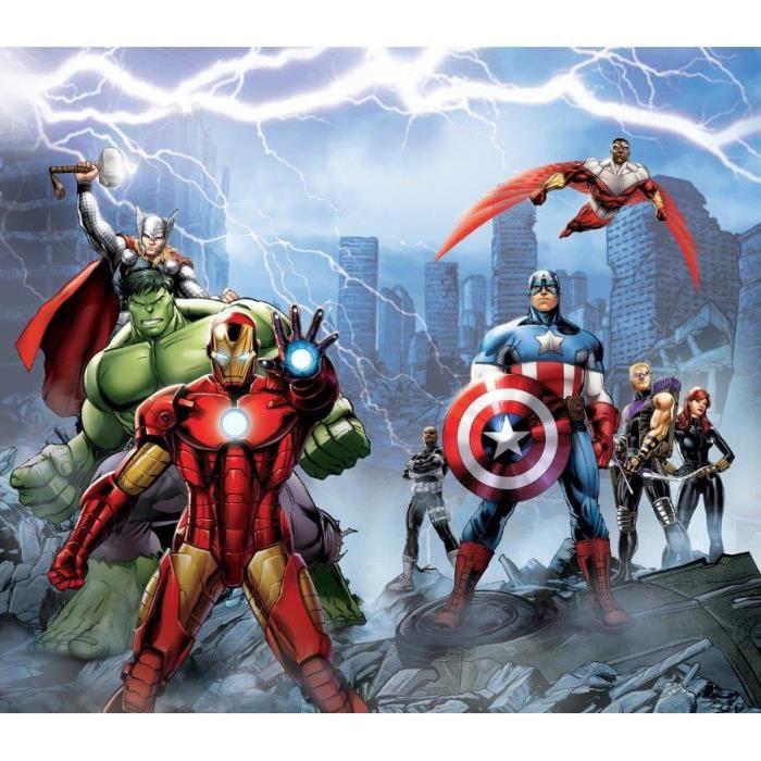 The Avengers - Set de 2 Rideaux pour Chambre Enfant