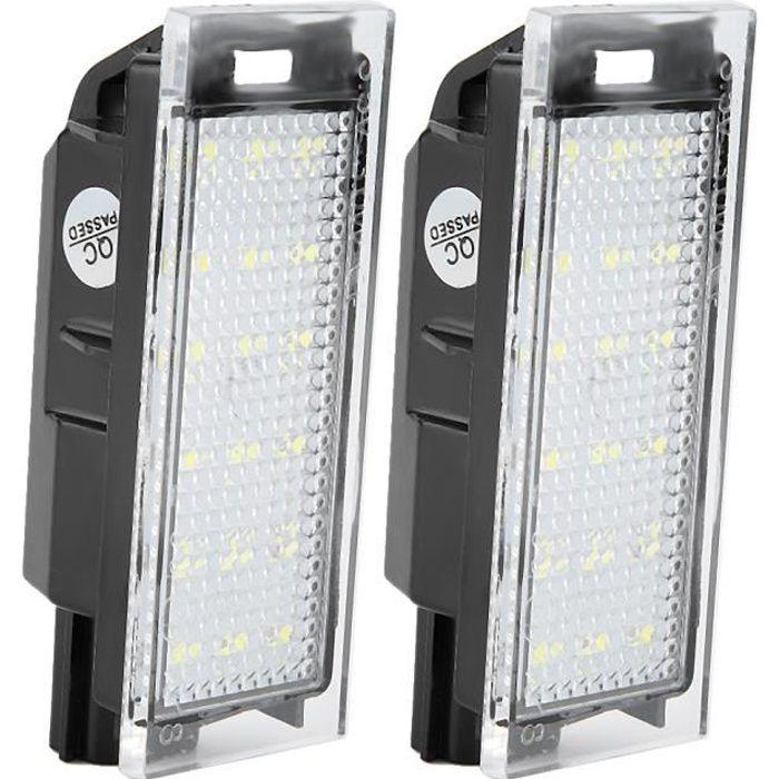 2Pcs Lampe de Plaque D\'Immatriculation de Numéro LED de Voiture Pour Renault Megane 2 Clio Laguna 2 Megane 3 Twingo Master Vel