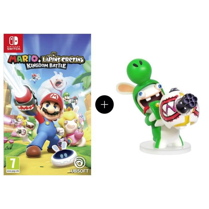 Pack Mario + The Lapins Crétins Kingdom Battle Jeu Switch + Figurine Yoshi 8cm