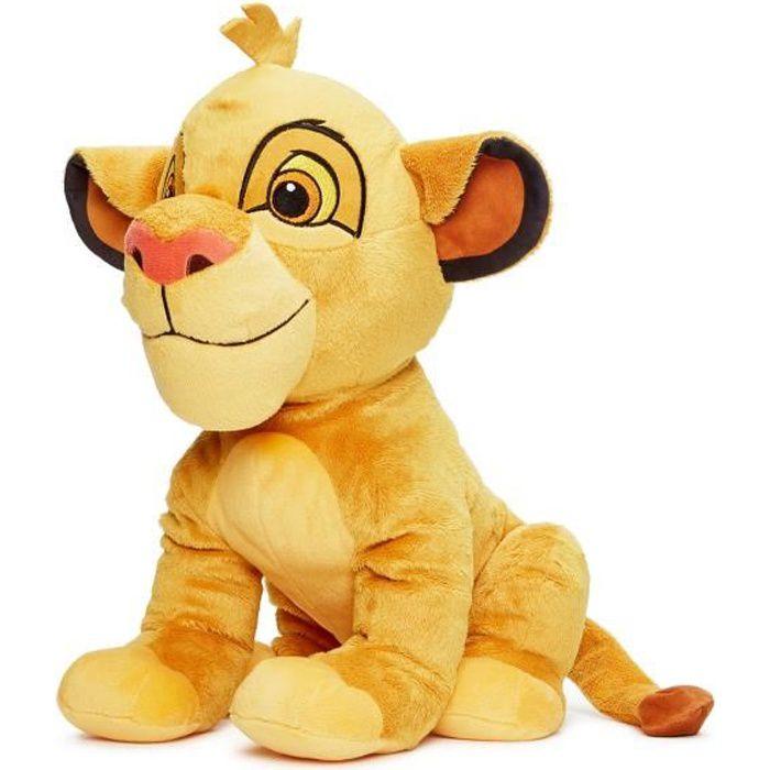 LE ROI LION Peluche Simba - 50 cm - Disney Animaux