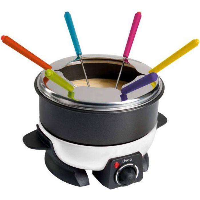 LIVOO DOC106 Appareil à fondue - Blanc et Noir