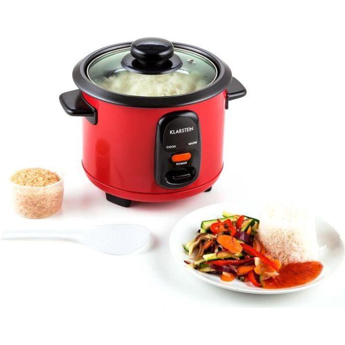 Klarstein Osaka - Cuiseur à riz 0,6L avec fonction maintien au chaud - rouge