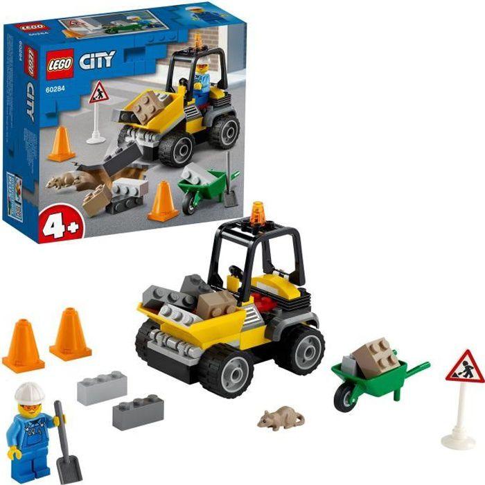LEGO® City 60284 Le camion de chantier, chargeur frontal à benne basculante, jouet voiture pour garçon ou fille de 4 ans et plus