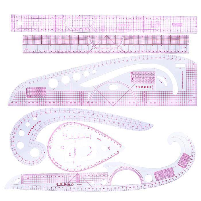 MAGIDEAL Règles Métriques Françaises En Plastique - Outils de Couture - Outil Pour La Confection de Vêtements( 6 PCs )