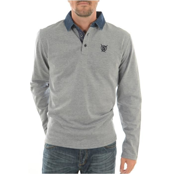 Polo Manches Longues Homme Biaggio Jeans