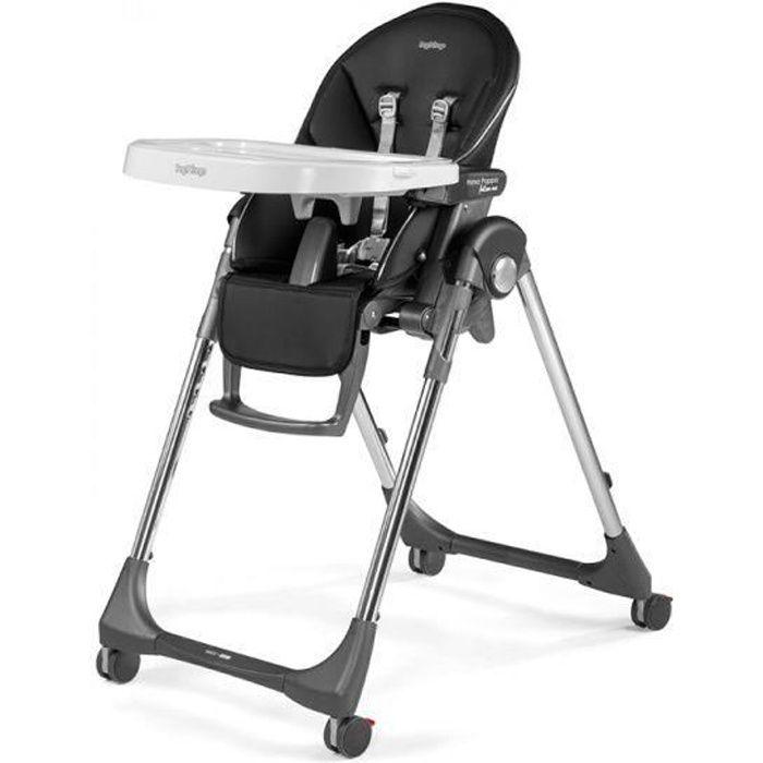 Chaise haute Peg Perego Prima Pappa Follow Me Hi-Tech Licorice