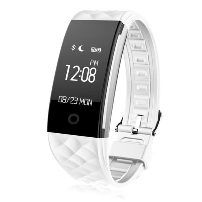 Montre de fréquence cardiaque GPS intelligente Suivi de la condition physique (Blanc) MONTRE CONNECTEE SPORT