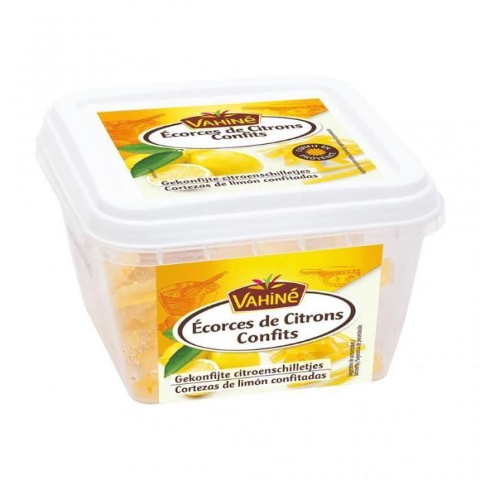 Vahiné Écorces de Citrons Confits 100g (lot de 3)