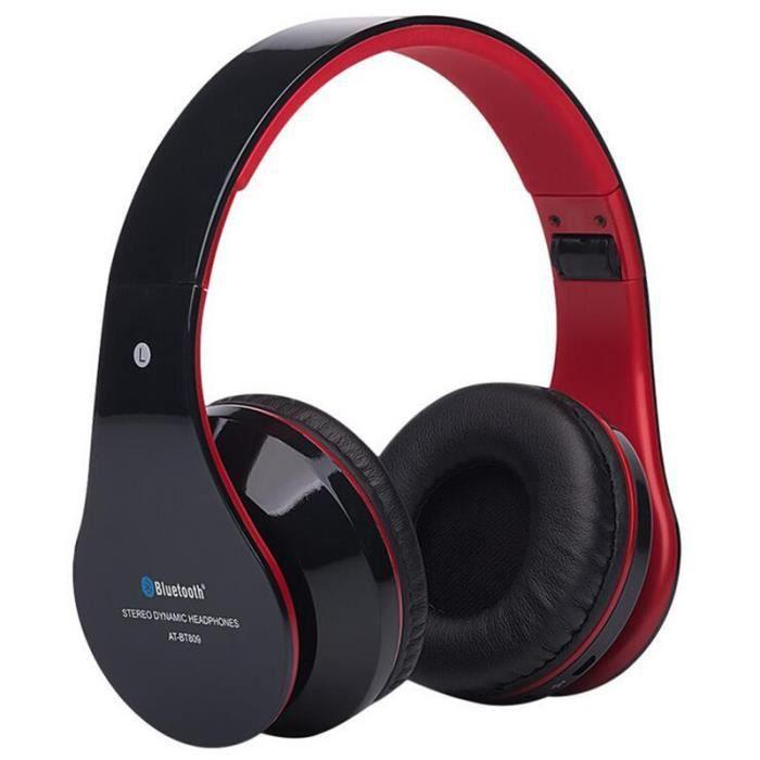 Casque audio rouge Qualité Supérieure Bluetooth