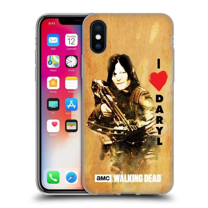 Officiel AMC The Walking Dead Rosita Personnages Coque en Gel molle pour iPhone X