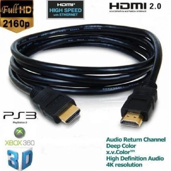 CÂBLE TV - VIDÉO - SON ACS ® Câble HDMI 2.0 3m slim 4K / Ultra HD 2160p