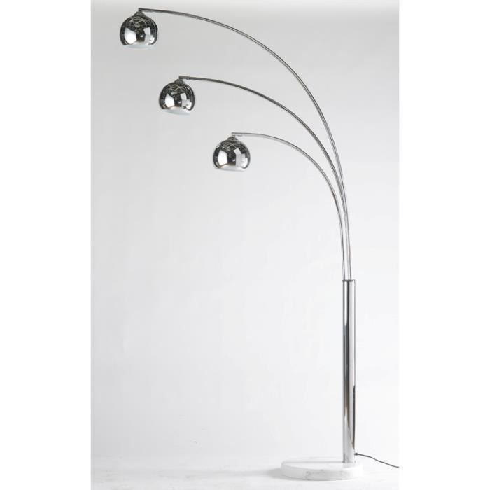 lampadaire chrom 3 branches achat vente lampadaire. Black Bedroom Furniture Sets. Home Design Ideas