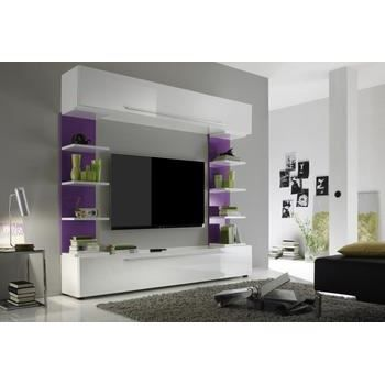 ensemble tv mural design celine coloris blanc et achat vente meuble tv ensemble tv mural. Black Bedroom Furniture Sets. Home Design Ideas