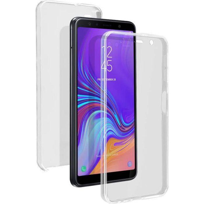 coque samsung a7 2018 silicone couleur