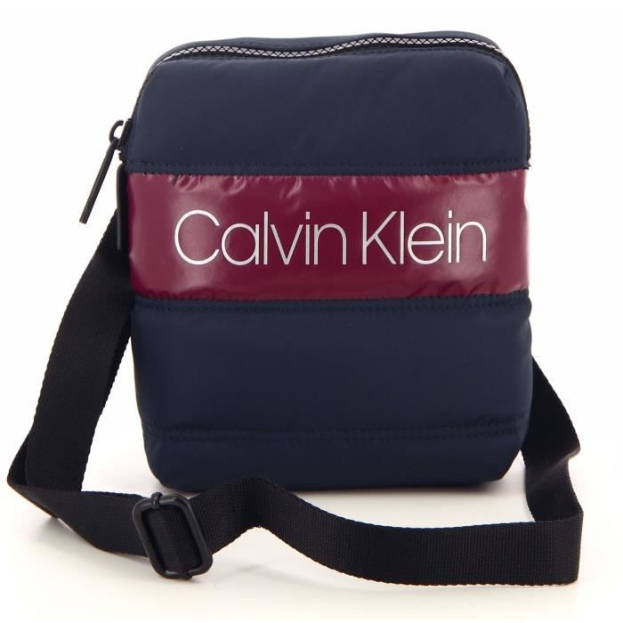 SACOCHE Calvin Klein - Petite sacoche bleue et rouge homme