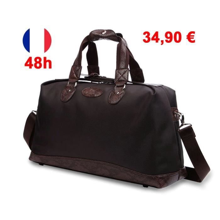 sac 24h sacoche homme luxe design bagage main valise cabine collection 2015 flavio marron. Black Bedroom Furniture Sets. Home Design Ideas