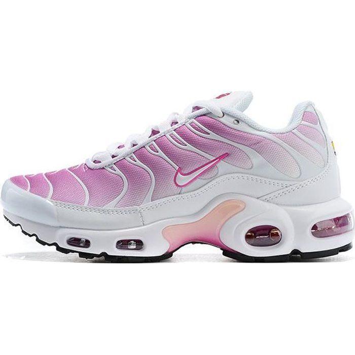Baskets NIKEs AIRs Max TN Plus Blanc Rose Femme Running Chaussures ...