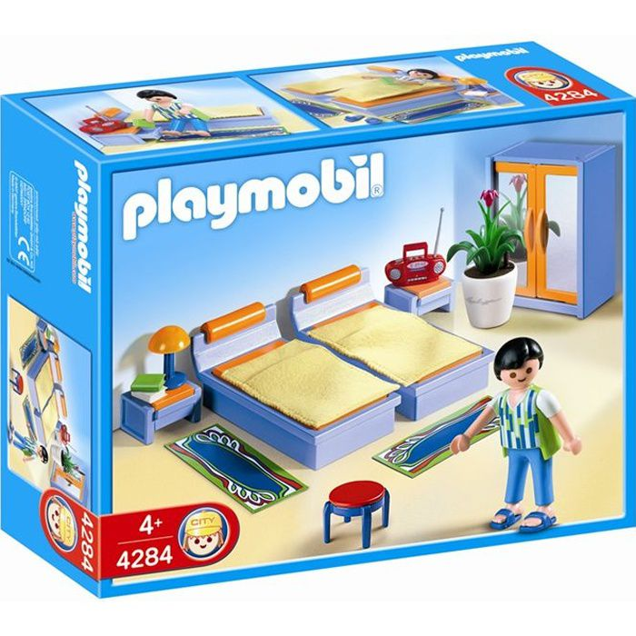 Playmobil 4284 chambre des parents achat vente univers for Chambre playmobil